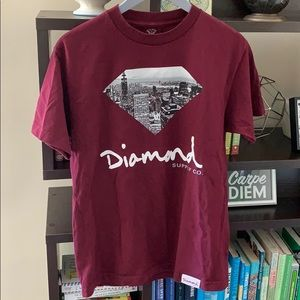 Diamond Supply Co. Shirts - Diamond Supply Co. Maroon City Tshirt Medium